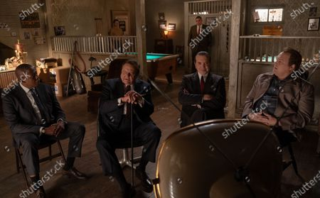 Stock Picture of Forest Whitaker as Bumpy Johnson, Paul Sorvino as Frank Costello, Chazz Palminteri as Joe Bonanno and Vincent D'Onofrio as Vincent 'Chin' Gigante