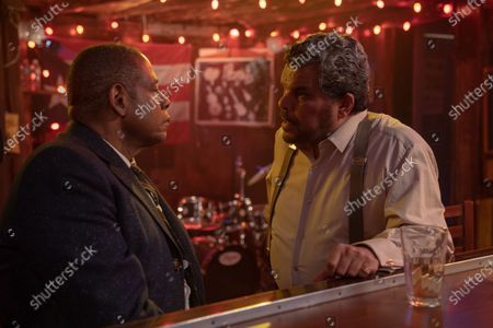 Stock Picture of Forest Whitaker as Bumpy Johnson and Luis Guzman as Alejandro 'El Guapo' Villabuena