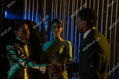 Kelvin Harrison Jr. as Teddy Greene and Lucy Fry as Stella Gigante