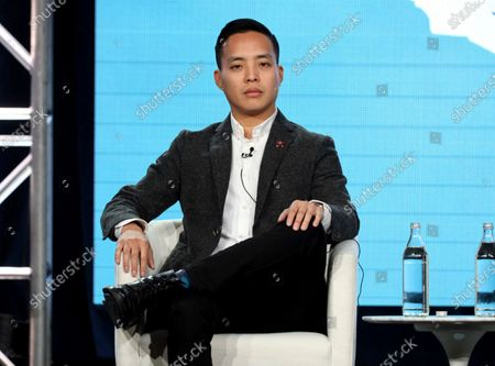 """Alan Yang during the Apple+ TCA 2020 Winter Press Tour in Pasadena, Calif. Yang makes his feature directorial debut with """"Tigertail,"""" on Netflix Friday, which is loosely based on his father's immigration story"""