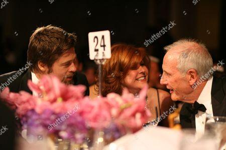 Brad Pitt, Susan Ekins and Jerry Weintraub