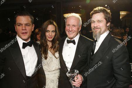Matt Damon, Angelina Jolie, Jerry Weintraub and Brad Pitt