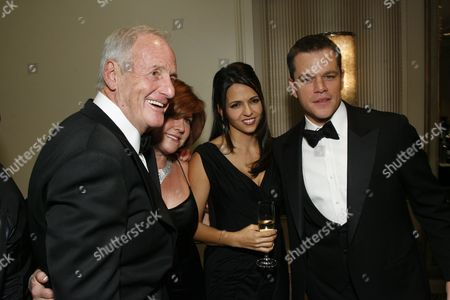 Jerry Weintraub, Susan Ekins, Luciana Damon and Matt Damon