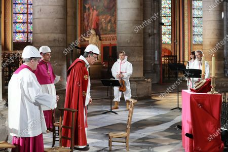 Editorial picture of Good Friday at Notre-Dame de Paris cathedral, France - 10 Apr 2020