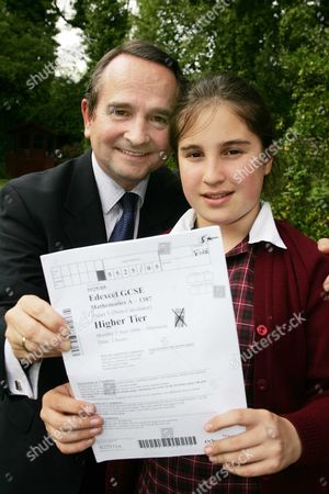 Alexandra Evans 12 Who Will Take A Maths Gcse With Her Father Richard. Picture By Glenn Copus