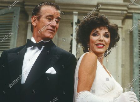 Stock Photo of Keith Baxter. Joan Collins