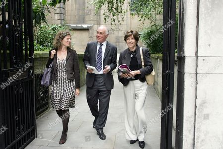 Stock Photo of Mary Ann Sieghart Michael Howard And Mary Archer - Remembering The Bard Of Cricklewood - The Londoner's Diary ..... Giles Coren Greeted Friends And Admirers Of His Father The Humorist Alan Coren At A Thanksgiving Service At St Bride's Church Off Fleet Street This Morning. Coren Senior Editor Of Punch Times Columnist And A Regular Panellist On Call My Bluff Died Nearly A Year Ago. The Church Is Just A Stone's Throw From Punch's Old Offices In Tudor Street Where Coren Used To Preside Over Hilarious Lunches For The Magazine's Contributors. Guests At The Memorial Service Included Lord Archer And His Wife Mary Barry Cryer Joan Bakewell Richard Ingrams Esther Rantzen Sir David Frost Michael And Sandra Howard And Sir Christopher Bland. Alan Coren's Daughter Victoria Read From An Article Her Father Penned Called 'the Long Goodbye' Written About The Time When He Moved Out Of The Unfashionable Suburb Of Cricklewood. Despite Having The Means To Live Elsewhere In London Coren Was A Great Champion Of The Area. His Son Giles The Restaurant Critic Also Read From Scott Fitzgerald's The Great Gatsby . Alan Coren Memorial Service St Brides Arrivals