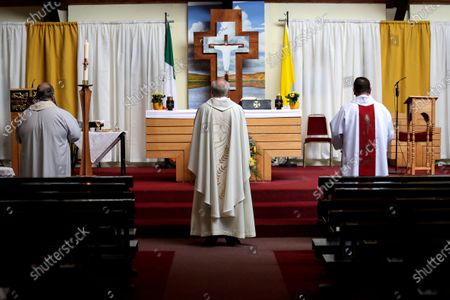Editorial picture of Easter Sunday Mass Across Ireland, Church Of Our Lady, Blessington, Co. Wicklow - 12 Apr 2020