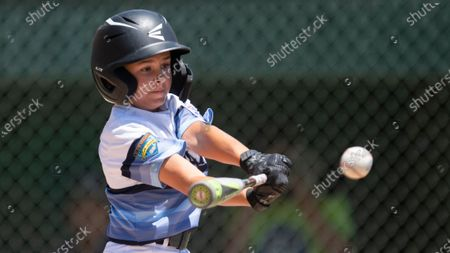 Stock Image of Northern California's Cooper Kunis bats during a Little League regional tournament baseball game in San Bernardino, Calif. Mike DeLuca envisioned his youngest son, John, capping his baseball career the same way most 12-year-old All-Star squads from Monroeville, Pennsylvania, had for the last two decades: with a week spent playing teams from all over the country at Cooperstown Dreams Park in early August. Then the COVID-19 pandemic arrived in the United States and the shutdowns began