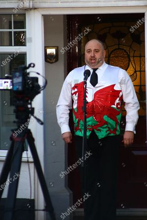 Editorial image of Wynne Evans hosts 'Sing for Wales', Cardiff, UK - 13 Apr 2020