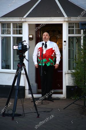 Editorial picture of Wynne Evans hosts 'Sing for Wales', Cardiff, UK - 13 Apr 2020