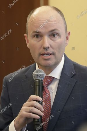 Republican Lt. Gov. Spencer Cox meets with Utah State Legislature at the Utah State Capitol, in Salt Lake City. Former U.S. ambassador to Russia Jon Huntsman Jr. qualified for the Republican primary ballot, joining Cox and ex-GOP chair Thomas Wright