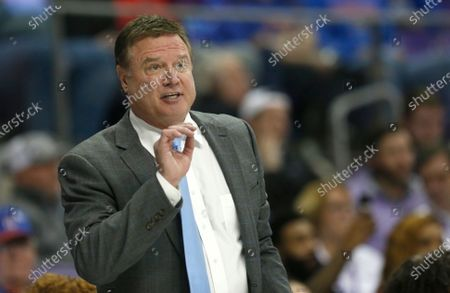 "Kansas head coach Bill Self reacts as Kansas plays TCU during the second half of an NCAA college basketball game in Fort Worth, Texas. The NCAA transfer portal was implemented two years ago, intended to help ease the burden on administrators, increase transparency and empower athletes who complained about being prevented at times from going elsewhere. ""There's a lot of juggling that has to take place because of the transfer portal,"" said Kansas coach Bill Self, who lost elite guard Isaac McBride to Vanderbilt but enjoyed the benefit of getting sharp-shooter Isaiah Moss from Iowa this past season"