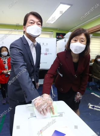 Editorial photo of General election in South Korea, Seoul - 15 Apr 2020
