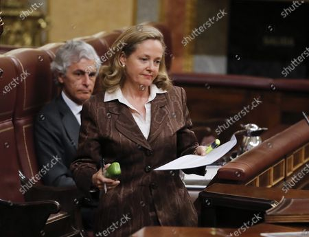 Editorial photo of Spanish Prime Minister Sanchez faces Parliament's questions for the first time since coronavirus-induced state of emergency declared, Madrid, Spain - 15 Apr 2020