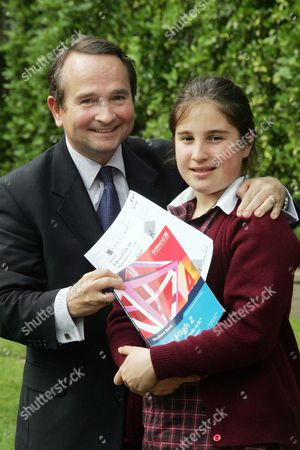 Alexandra Evans 12 Who Will Take A Maths Gcse With Her Father Richard.