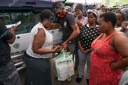 Editorial photo of Food parcel deliveries photo set, Cape Town, South Africa - 15 Apr 2020