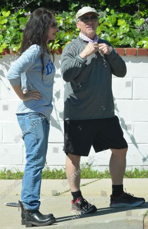 Editorial picture of Madeleine Stowe and Brian Benben out and about, Los Angeles, USA - 15 Apr 2020