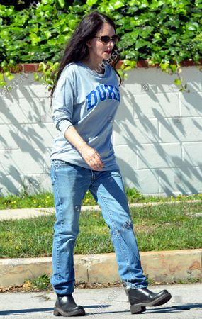Stock Picture of Madeleine Stowe goes for a walk in Pacific Palisades.