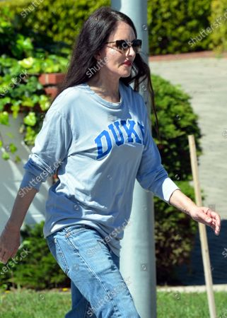 Editorial image of Madeleine Stowe and Brian Benben out and about, Los Angeles, USA - 15 Apr 2020