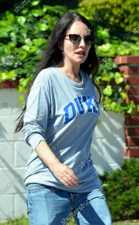 Stock Image of Madeleine Stowe goes for a walk in Pacific Palisades.
