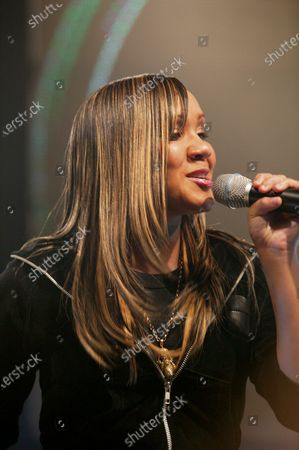Big Brovaz: Cherise Roberts performs during The BRIT Awards Launch, Abbey Road Studios, London
