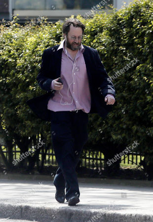 Editorial image of David Mitchell out and about, London, UK - 16 Apr 2020