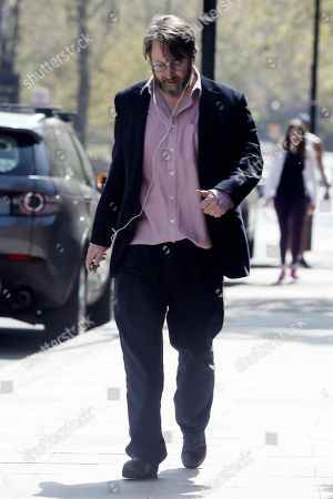 Editorial photo of David Mitchell out and about, London, UK - 16 Apr 2020