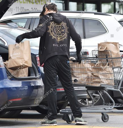 Editorial image of Kevin Bacon out and about Los Angeles, California, USA - 13 Apr 2020