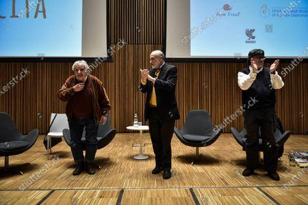 Pepe Muujica, Carlo Petrini and Luis Sepulveda