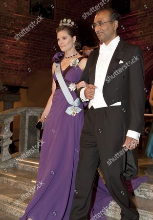 Crown Princess Victoria and Venkatraman Ramakrishnan