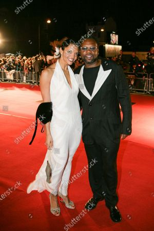 Efua Baker and Jazzy B pose on the red carpet during The 25th BRIT Awards 2005 with Mastercard, Earls Court Exhibition Centre, London