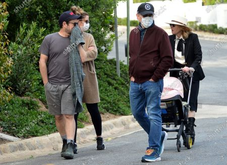 Editorial photo of Steven Spielberg, J.J. Abrams, Kate Capshaw and Katie McGrath out and about, Pacific Palisades, Los Angeles, USA - 16 Apr 2020