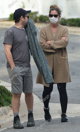 Editorial picture of Steven Spielberg, J.J. Abrams, Kate Capshaw and Katie McGrath out and about, Pacific Palisades, Los Angeles, USA - 16 Apr 2020