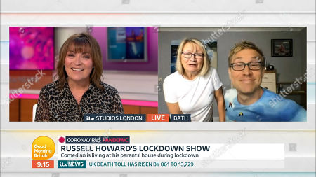Lorraine Kelly and Russell Howard and Ninette Veale