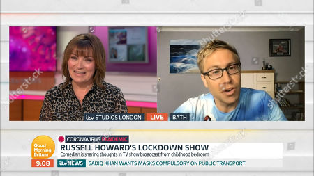 Lorraine Kelly and Russell Howard