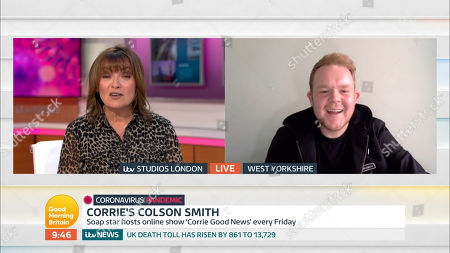 Lorraine Kelly and Colson Smith
