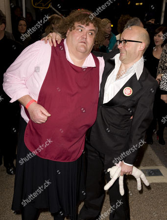 Stock Picture of Steve Benham as Heather Trott, with Harry Hill