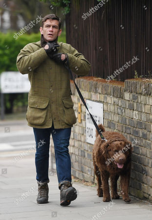Scott Maslen walking his dog