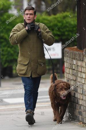 Stock Image of Scott Maslen walking his dog