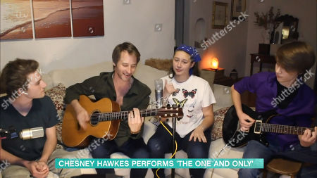Chesney Hawkes and his children
