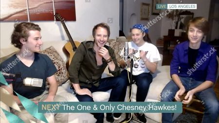 Stock Picture of Chesney Hawkes and his children