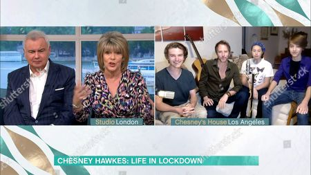 Stock Photo of Chesney Hawkes and his children and Eamonn Holmes and Ruth Langsford