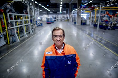 CEO Hakan Samuelsson poses in the Volvo Cars factory in Torslanda, Gothenburg, Sweden, 17 April 2020. Volvo Cars has started up the production at the factory in Torslanda again after a stand still since March 26 due to coronavirus, Covid-19 situation.
