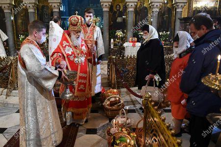 Editorial image of Virus Outbreak Orthodox Easter., Kyiv, Ukraine - 18 Apr 2020