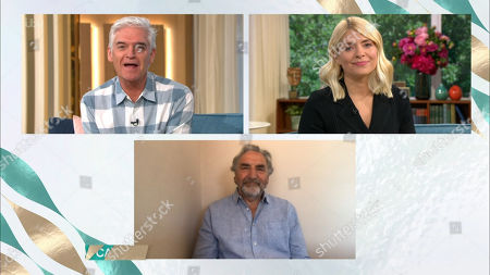 Phillip Schofield and Holly Willoughby and Jim Carter