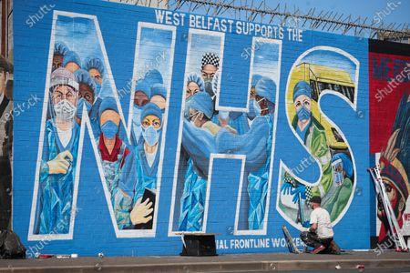 Editorial picture of Coronavirus outbreak, Belfast, Northern Ireland - 20 Apr 2020