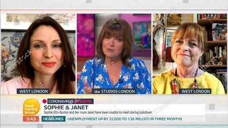 Stock Photo of Sophie Ellis-Bextor, Lorraine Kelly, Janet Ellis