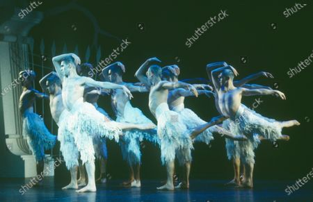 """Editorial image of """"Swan Lake' Dance performed by Adventures in Motion Pictures at Sadler's Wells Theatre, London, UK 1995 - 21 Apr 2020"""