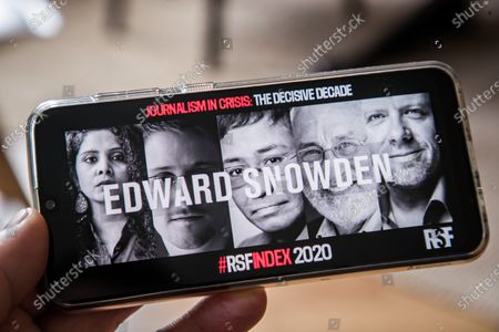 Editorial picture of RSF 2020 Press Freedom Index, Paris, France - 21 Apr 2020